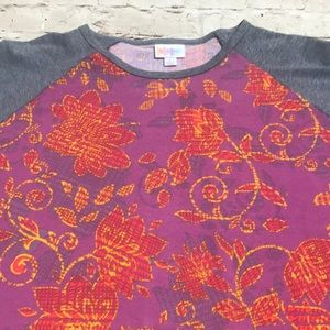 NWT LuLaRoe Randy Shirt Large Flower Print 🌸 🌺